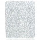 Protective Shining Wave Pattern Hard Plastic Back Case for Apple iPad - Silver + White