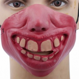 Funny Horrible Scary Mask Party Halloween Fool\'s Day Big Nose Style Latex Mask Cosplay Half Face Masks Costume Pink/Other