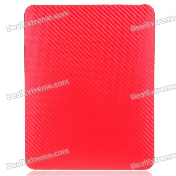 Protective Twill Weave Pattern Hard Plastic Back Case for   Ipad - Red projectdesign protective hard carrying pouch case for wii nunchuck controller red