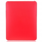 Protective Twill Weave Pattern Hard Plastic Back Case for   Ipad - Red