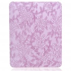 Protective Flower Pattern Hard Plastic Back Case for   Ipad - Purple
