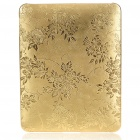 Protective Flower Pattern Hard Plastic Back Case for   Ipad - Golden Yellow