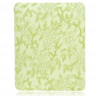 Protective Flower Pattern Hard Plastic Back Case for   Ipad - Light Green