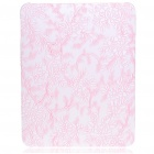 Protective Flower Pattern Hard Plastic Back Case for   Ipad - Light Pink