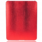 Protective Snakeskin Pattern Hard Plastic Back Case for   Ipad - Red