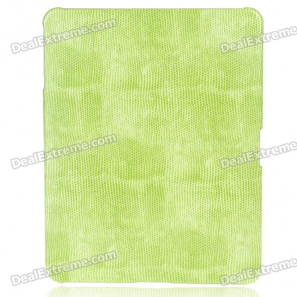 Protective Snakeskin Pattern Hard Plastic Back Case for   Ipad - Light Green