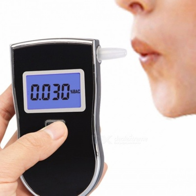 AT-818S Portable Digital Alcohol Breath Tester Air Blow Analyzer Breathalyzer Detector Test