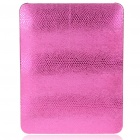 Protective Snakeskin Pattern Hard Plastic Back Case for   Ipad - Peach