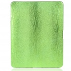 Protective Snakeskin Pattern Hard Plastic Back Case for   Ipad - Green