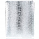 Protective Snakeskin Pattern Hard Plastic Back Case for   Ipad - Silver