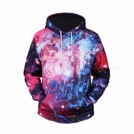 3D Print Sweatshirts For Men Star Sky Digital Hoodies Long Sleeve Sweatshirt Hoodies For Men Multi/M