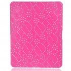 Protective Diamond Flower Pattern Hard Plastic Back Case for   Ipad - Peach