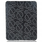 Protective Diamond Flower Pattern Hard Plastic Back Case for   Ipad - Black