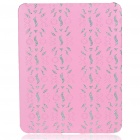 Protective Diamond Flower Pattern Hard Plastic Back Case for Apple iPad - Pink