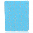 Protective Diamond Flower Pattern Hard Plastic Back Case for Apple iPad - Sky Blue