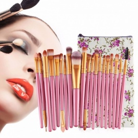 MAANGE 20Pcs Brushes Set For Make-up, Professional Eye Shadow Foundation Eyebrow Lip Makeup Brush Suit Make Up Tool Random Color