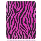 Protective Zebra-Stripe Style Hard Plastic Back Case for   Ipad - Peach