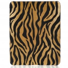 Protective Zebra-Stripe Style Hard Plastic Back Case for   Ipad - Brown Yellow
