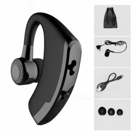 V9 Handsfree Wireless Bluetooth Earphone, Noise Cancelling Business Bluetooth Headset With Mic For Driver Black
