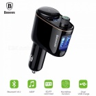 Baseus Car MP3 Audio Player Bluetooth Car Kit, FM Transmitter Handsfree Calling 5V 3.4A Dual USB Car Charger Black