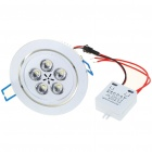5W 500-Lumen 6500K White 5-LED Ceiling Lamp/Down Light with LED Driver (AC 100~240V)