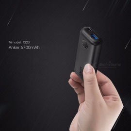 Anker PowerCore II Portable Mini 6700mAh Power Bank, Pocket-Size Small External Battery For Mobile Phone Black
