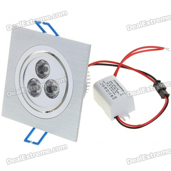 3W 300-Lumen 6500K White 3-LED Ceiling Lamp/Down Light with LED Driver (AC 86~265V) цены онлайн