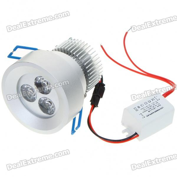 3W 300-Lumen 3500K Lampe de plafond 3-LED mousse chaude / Down Light avec pilote LED (AC 86 ~ 265V)