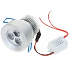 3W 300-Lumen 3500K Warm White 3-LED Ceiling Lamp/Down Light with LED Driver (AC 86~265V)