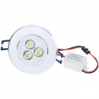 3W 300-Lumen 6500K White 3-LED-Deckenleuchte / Down Light mit LED-Treiber (AC 86 ~ 265V)