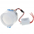 3W 300 Lumen 6500K plafond blanc 3 LED Lampe / Down Light avec LED Driver (AC 86 ~ 265V)