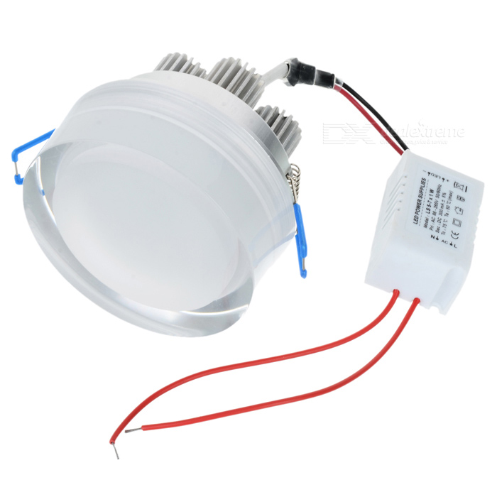 7W 700-Lumen 6500K White 7-LED Ceiling Lamp/Down Light with LED Driver (AC 100~240V) 90w led driver dc40v 2 7a high power led driver for flood light street light ip65 constant current drive power supply