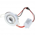 1W 100-Lumen 6500K Blanc LED plafonnier / Down Light avec LED Driver (AC 86 ~ 265V)