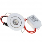 1W 100-Lumen 6500K White LED Ceiling Lamp/Down Light with LED Driver (AC 86~265V)