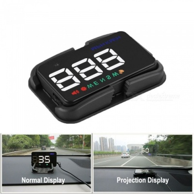 Universal Car HUD GPS Speedometer Speedo Head Up Display Digital Over Speed Alert Windshield Projetor Auto Navigation