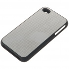 Stylish Protective Aluminum Alloy Plastic Backside Case for iPhone 4 - Grids