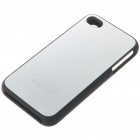 Stylish Protective Aluminum Alloy Plastic Backside Case for iPhone 4 - Silver