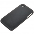 Stylish Protective Aluminum Alloy Plastic Backside Case for Iphone 4 - Nest (Black)
