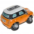 Cute Car Shaped USB Rechargeable MP3 Music Speaker with SD/USB - Orange