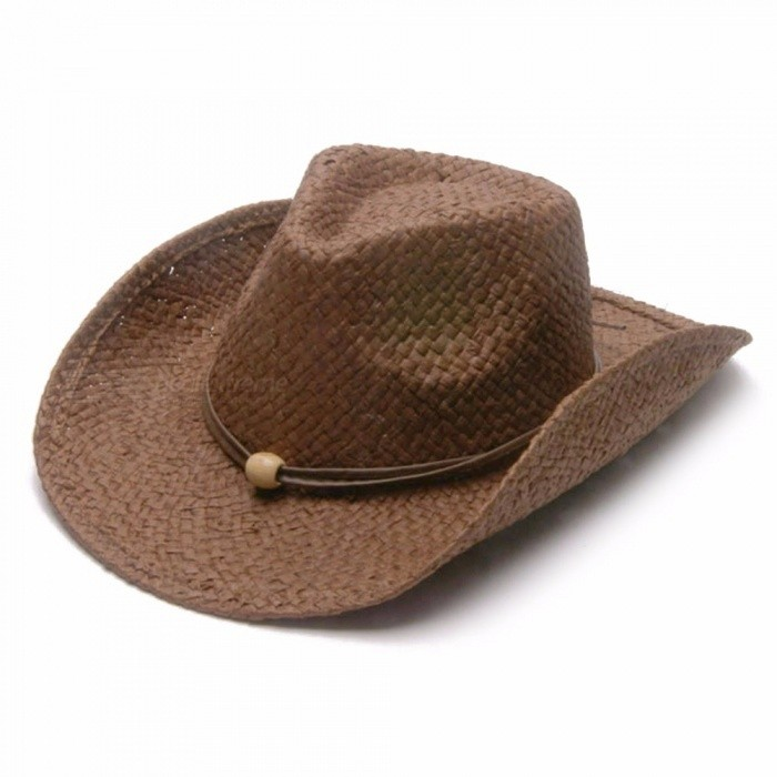 301dd5aeb89 Men Jazz Hat Cowboys Straw Hats Best Mens Western Nature Raffia Straw Hat  New Women Cowgirls Roll-up Summer Sun Caps Caffee - Worldwide Free Shipping  - DX