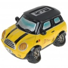 Cute Car Shaped USB Rechargeable MP3 Music Speaker with SD/USB - Yellow