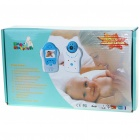"2,4 GHz sem fio 8-LED Night Vision Camera com 1,8"" Monitor LCD Baby Handheld - Flor Azul"