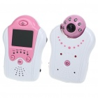 "2.4GHz Wireless 6-LED Night Vision Camera with 1.8"" LCD Handheld Baby Monitor - Pink"