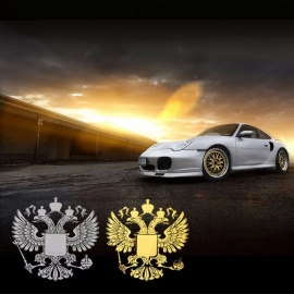 10Pcs Russia Nickel Metal Car Stickers Decals Russian Federation Eagle Emblem For Car Styling Sticker Gold