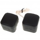 High Efficiency 500W Micro Dome Tweeter Speakers for Car Audio System (Pair)