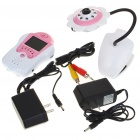 "2.4GHz Wireless 8-LED Night Vision Camera with 1.8"" LCD Handheld Baby Monitor - Pink Flower"