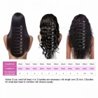 Brazilian Straight Human Hair 4 Bundles With Lace Closure, Free / Middle / Three Part Hair Weave Bundles With Closure 8 10 12 14 closure8/Three Part