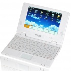 "7"" TFT LCD Android 1.6 VIA8505 CPU WiFi UMPC Netbook - White (300MHz/2GB/USB/SD/LAN)"