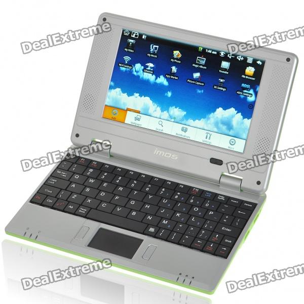 "7"" TFT LCD Android 1.6 VIA8505 CPU WiFi UMPC Netbook - Green (300MHz/2GB/USB/SD/LAN)"