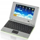 "7 ""TFT LCD Android 1.6 VIA8505 CPU WiFi UMPC Netbook - Green (300MHz/2GB/USB/SD/LAN)"